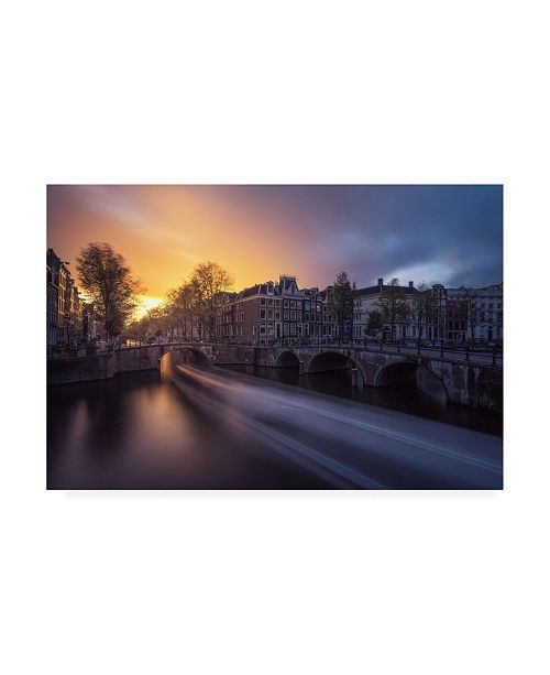 "Trademark Global Jean Claude Castor Amsterdam Keizersgracht Canvas Art - 37"" x 49"""