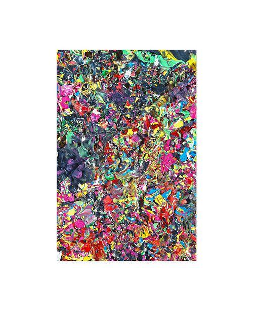 "Trademark Global Mark Lovejoy Abstract Splatters Lovejoy 12 Canvas Art - 37"" x 49"""