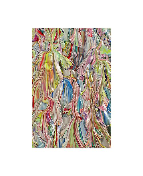 "Trademark Global Mark Lovejoy Abstract Splatters Lovejoy 30 Canvas Art - 15"" x 20"""