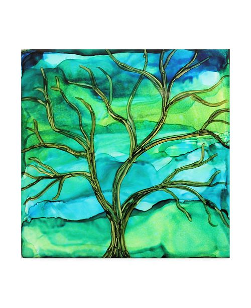 "Trademark Global Michelle Mccullough Healing Tree Canvas Art - 15"" x 20"""
