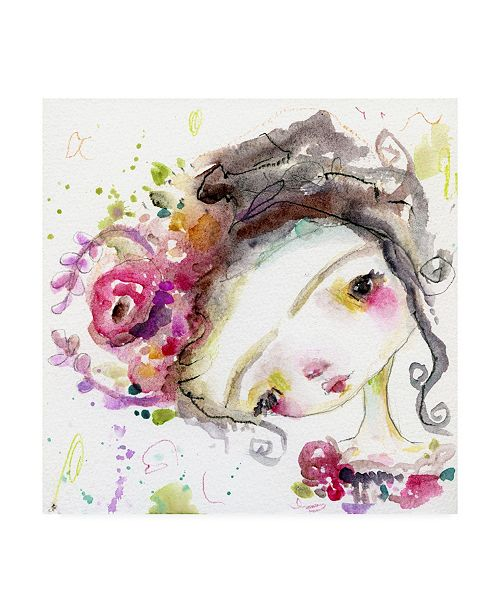 "Trademark Global Mindy Lacefield Flora Frida Canvas Art - 15"" x 20"""