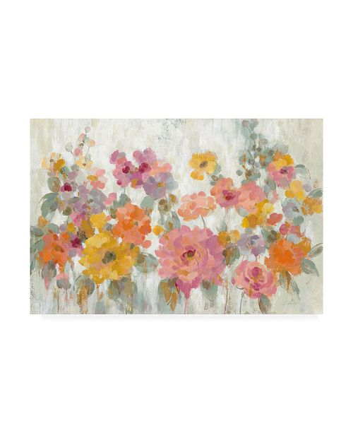 "Trademark Global Silvia Vassileva Garden Fun Canvas Art - 37"" x 49"""