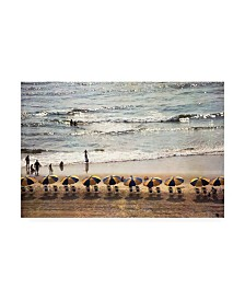 "Debra Van Swearingen A Day at the Beach Umbrellas Canvas Art - 15"" x 20"""