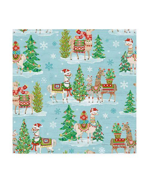 """Trademark Global Mary Urban Lovely Llamas Christmas Step 07 Canvas Art - 15"""" x 20"""""""