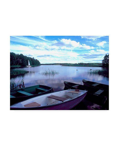 "Trademark Global Monte Nagler Four Boats Cracow Poland Canvas Art - 20"" x 25"""