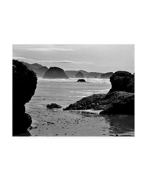 "Trademark Global Monte Nagler Canon Beach Rocks Canvas Art - 20"" x 25"""