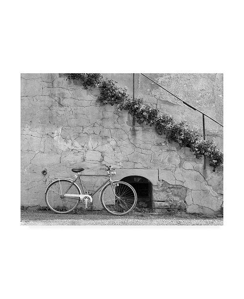 "Trademark Global Monte Nagler Bicycle and Cracked Wall Einsiedeln Switzerland Canvas Art - 20"" x 25"""