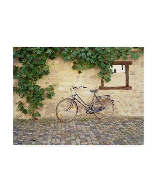 "Trademark Global Monte Nagler Bicycle Turckheim France Color Canvas Art - 15"" x 20"""