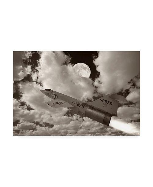 """Trademark Global Monte Nagler Jet Over Clouds Canvas Art - 20"""" x 25"""""""