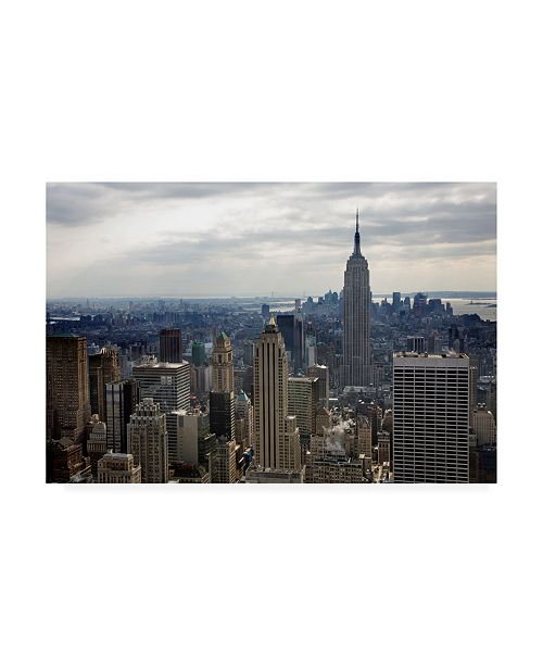 "Trademark Global Monte Nagler Empire State Building New York City New York Color Canvas Art - 20"" x 25"""