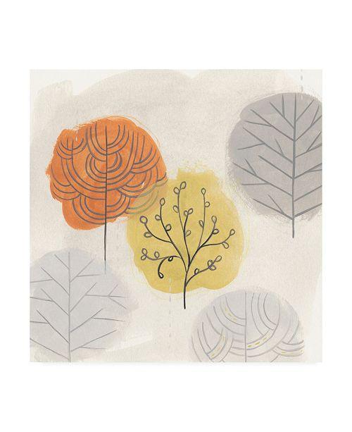 "Trademark Global June Erica Vess Forest Treasure III Canvas Art - 15"" x 20"""