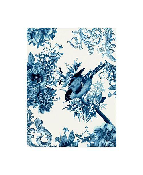 "Trademark Global Naomi Mccavitt Bird and Branch in Indigo I Canvas Art - 20"" x 25"""