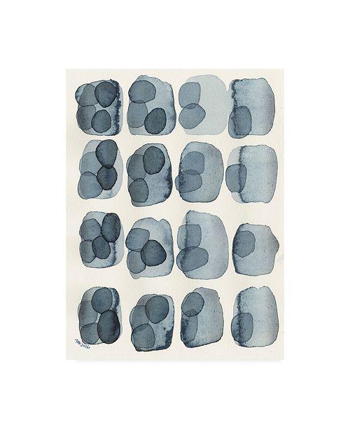 "Trademark Global Nikki Galapon Indigo Four Canvas Art - 15"" x 20"""