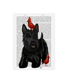 """Fab Funky Scottish Terrier and Birds Canvas Art - 15.5"""" x 21"""""""