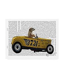 """Fab Funky Meerkat in Hot Rod Canvas Art - 15.5"""" x 21"""""""