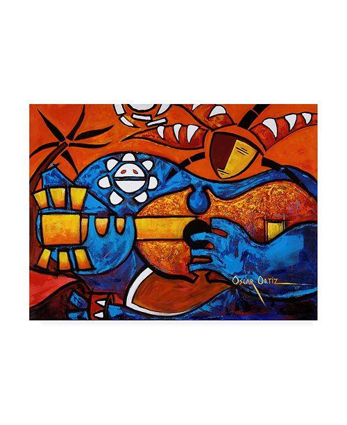 "Trademark Global Oscar Ortiz The Abstract Musician Canvas Art - 15.5"" x 21"""