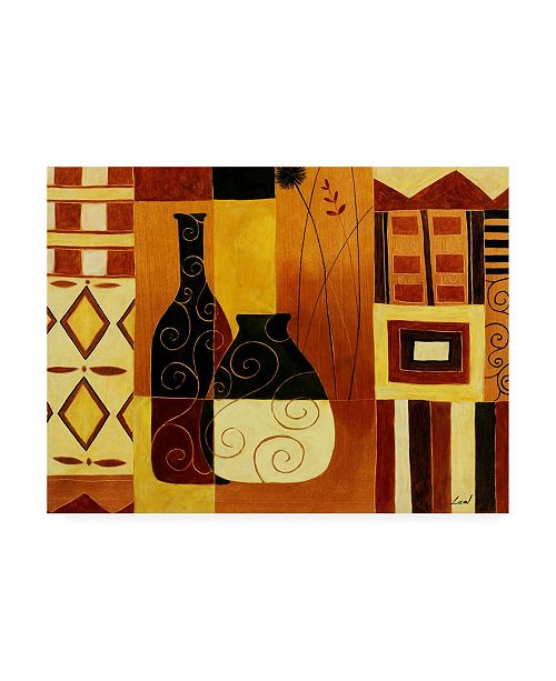 "Trademark Global Pablo Esteban Black and White Vases Blocks Canvas Art - 15.5"" x 21"""