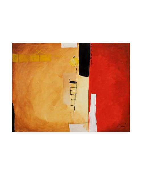 """Trademark Global Pablo Esteban Tones of Red and White 2 Canvas Art - 27"""" x 33.5"""""""