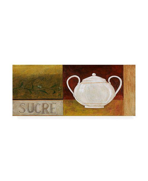 "Trademark Global Pablo Esteban Sugar Bowl Sucre Canvas Art - 36.5"" x 48"""