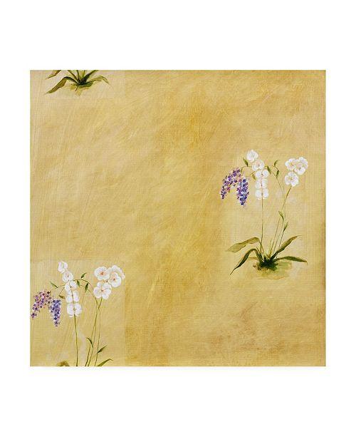 "Trademark Global Pablo Esteban White Floral Pattern Canvas Art - 15.5"" x 21"""