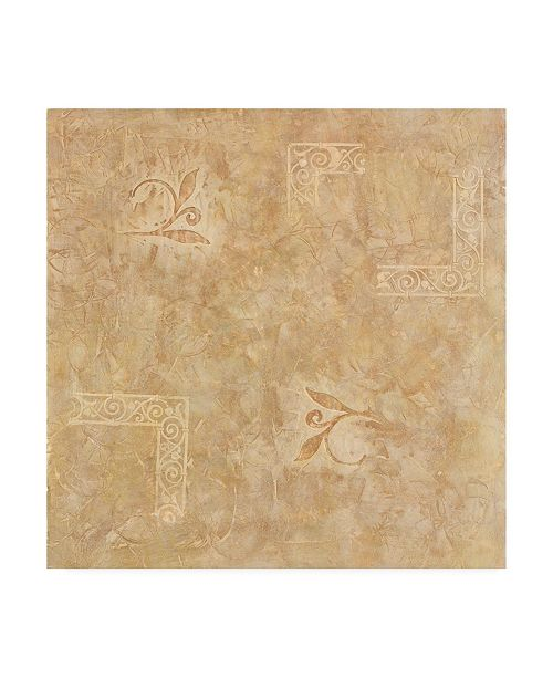 "Trademark Global Pablo Esteban Beige Line Art Texture Canvas Art - 19.5"" x 26"""