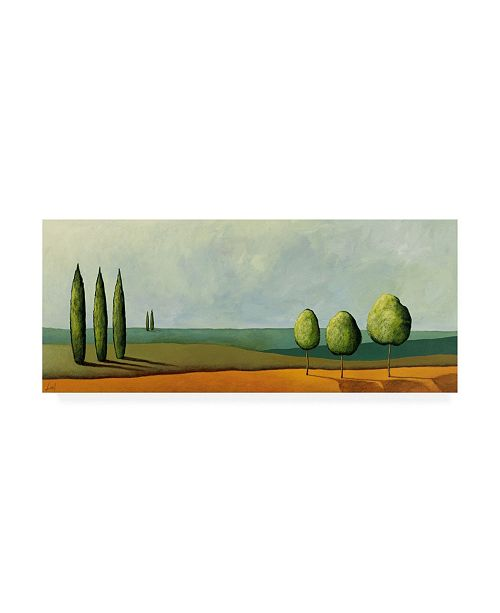 "Trademark Global Pablo Esteban Green Tuscan Paint Landscape 3 Canvas Art - 15.5"" x 21"""