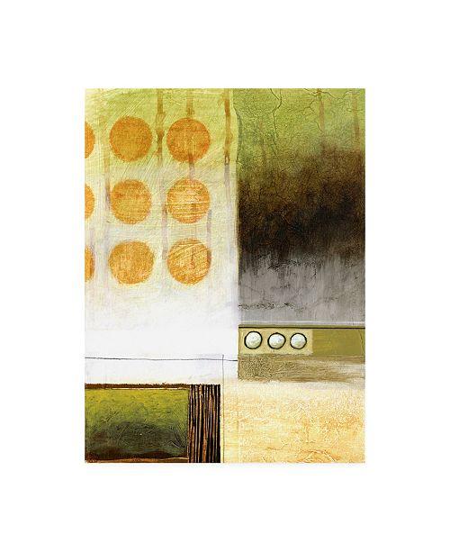 "Trademark Global Pablo Esteban Six and One Half Orange Circles Canvas Art - 36.5"" x 48"""