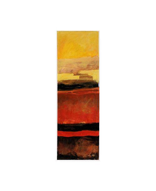 "Trademark Global Pablo Esteban Yellow Red Wave Pattern 3 Canvas Art - 36.5"" x 48"""