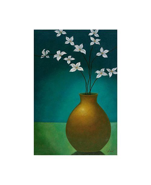 "Trademark Global Pablo Esteban Small Floral Vase 3 Canvas Art - 36.5"" x 48"""