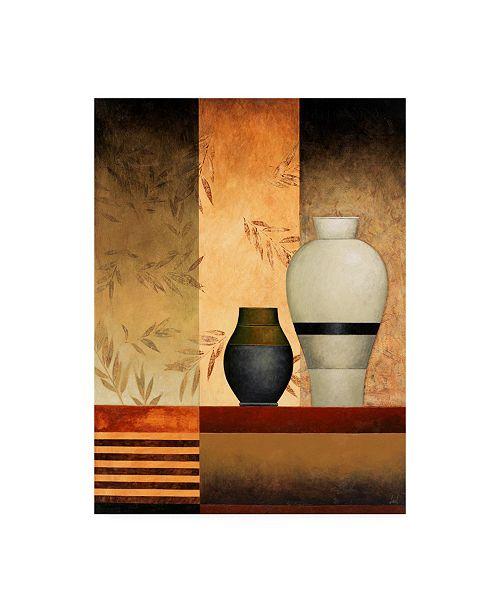 "Trademark Global Pablo Esteban Vases Over Panels 1 Canvas Art - 19.5"" x 26"""