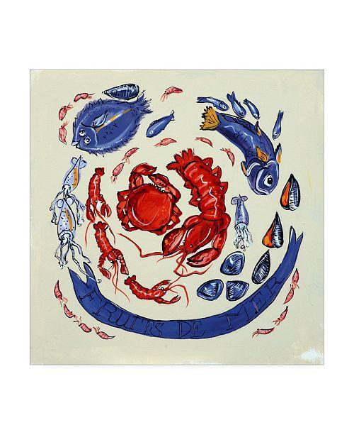"Trademark Global Patricia A. Reed Fruits De Mer Canvas Art - 15.5"" x 21"""