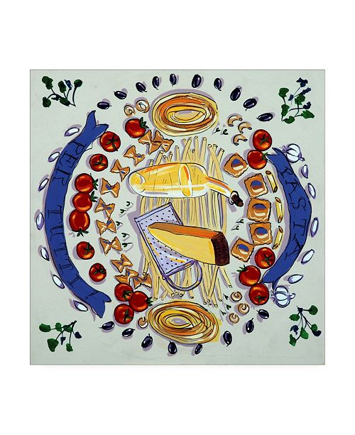"Trademark Global Patricia A. Reed Pasta Per Tutti II Canvas Art - 15.5"" x 21"""