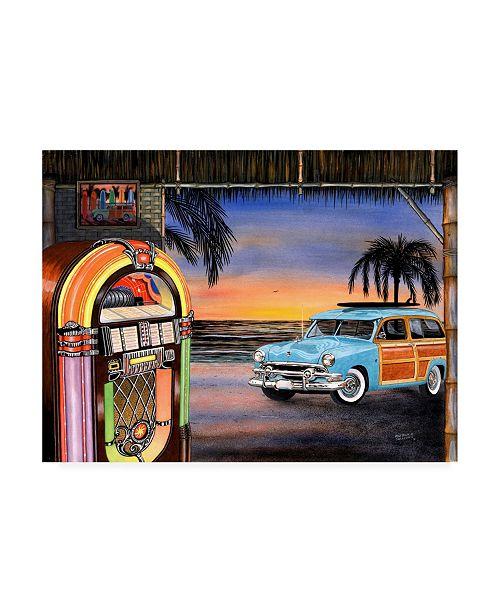 "Trademark Global Patrick Sullivan Beach Music Juke Canvas Art - 36.5"" x 48"""