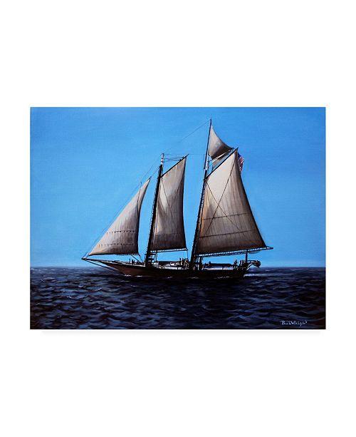 "Trademark Global Paul Walsh Sailing Ship Canvas Art - 19.5"" x 26"""