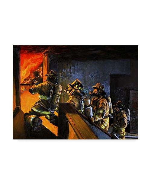 "Trademark Global Paul Walsh Fire Floor Canvas Art - 36.5"" x 48"""