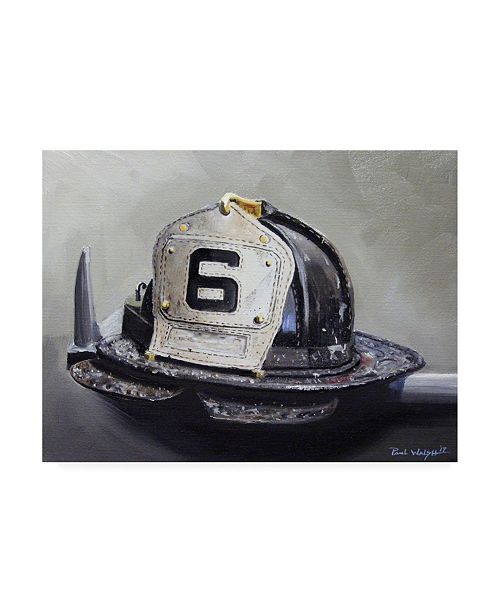 "Trademark Global Paul Walsh Fire Helmet Canvas Art - 36.5"" x 48"""