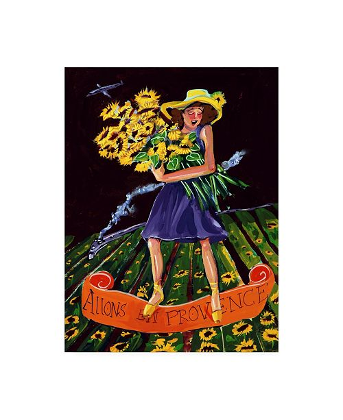 """Trademark Global Patricia A. Reed Allons Au Provence Canvas Art - 19.5"""" x 26"""""""
