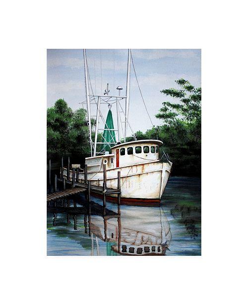 "Trademark Global Patrick Sullivan Jax Shrimp Boat Canvas Art - 19.5"" x 26"""