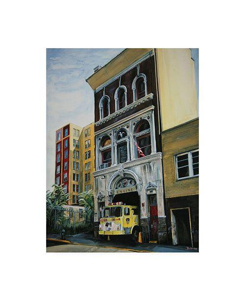 "Trademark Global Paul Walsh Engine 41 Canvas Art - 19.5"" x 26"""