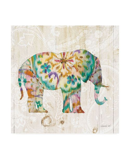 "Trademark Global Danhui Nai Boho Paisley Elephant I Canvas Art - 36.5"" x 48"""