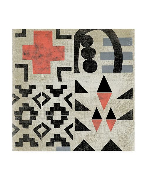 "Trademark Global Chariklia Zarris Geo Tile III Canvas Art - 15.5"" x 21"""