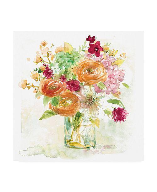 "Trademark Global Elizabeth Franklin Garden Jar III Canvas Art - 15.5"" x 21"""