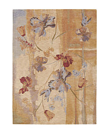 "CLOSEOUT! Nourison Area Rug, Somerset ST18 Art Flower Beige 5' 6"" x 7' 5"""