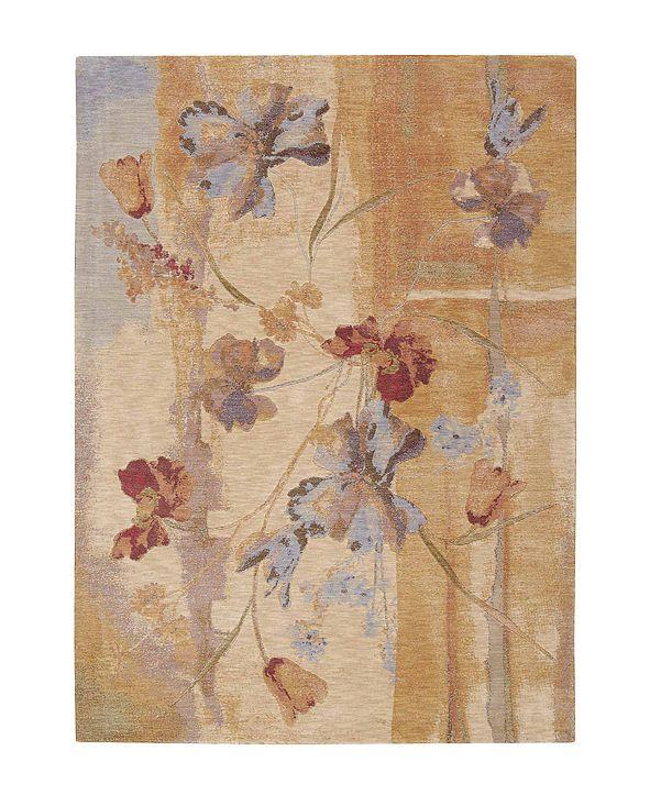 "Nourison CLOSEOUT! Area Rug, Somerset ST18 Art Flower Beige 3' 6"" x 5' 6"""