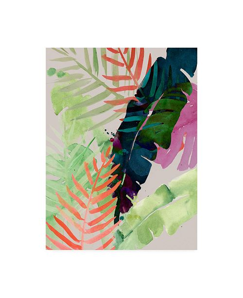 "Trademark Global Jennifer Paxton Parker Electric Palms II Canvas Art - 27"" x 33.5"""