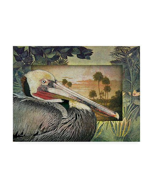 "Trademark Global Steve Hunziker Pelican Paradise I Canvas Art - 15.5"" x 21"""
