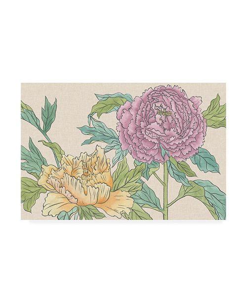 "Trademark Global Melissa Wang Peony Blooms III Canvas Art - 15.5"" x 21"""