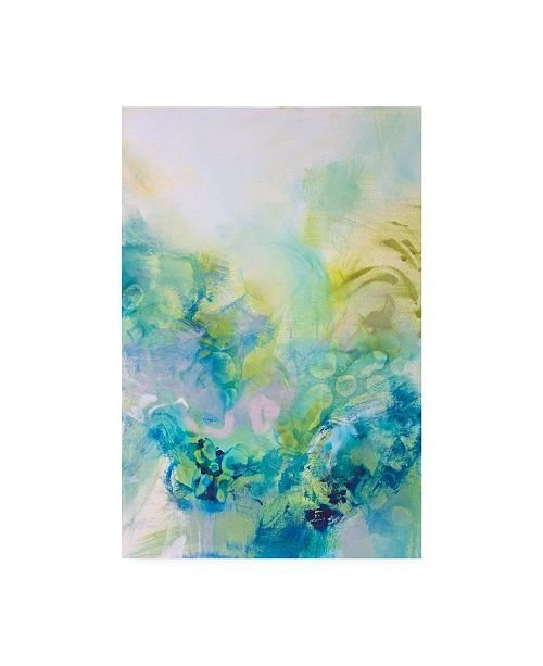 "Trademark Global Jennifer Gardner Turquoise Flow I Canvas Art - 15.5"" x 21"""