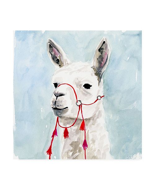 "Trademark Global Victoria Borges Watercolor Llama II Canvas Art - 19.5"" x 26"""