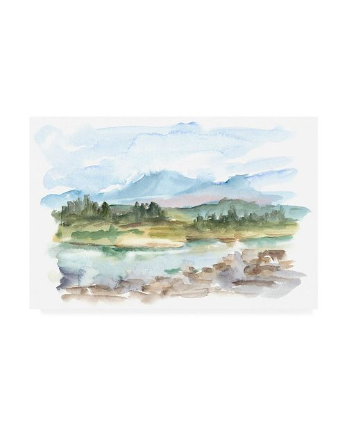 "Trademark Global Ethan Harper Mountain Watercolor III Canvas Art - 27"" x 33.5"""